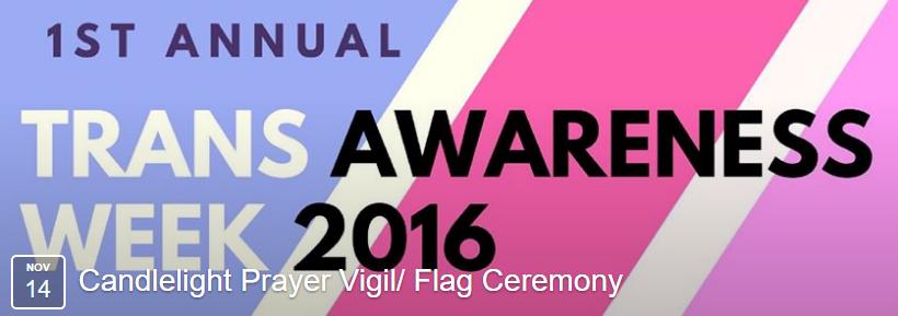 Trans Awareness Week: Schedule of Events