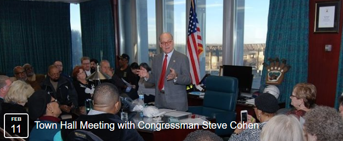 Town Hall Meeting with Congressman Steve Cohen (2/11)